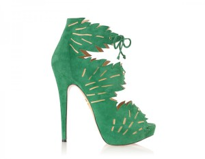 Charlotte Olympia Eve ankle Green boots