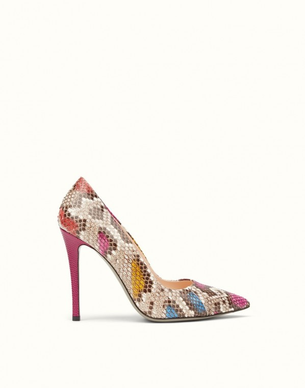 scarpe magazine fendi decollete-in-pitone-multicolor-fendi