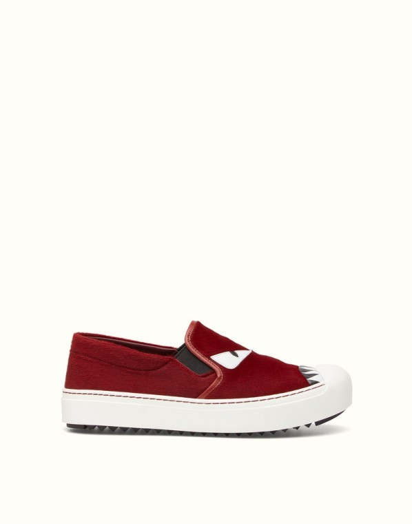 scarpe magazine fendi sneaker-slip-on-rossa-fendi