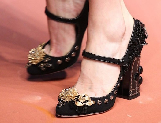 mary-jane-black-gold-dolce e gabbana scarpe magazine