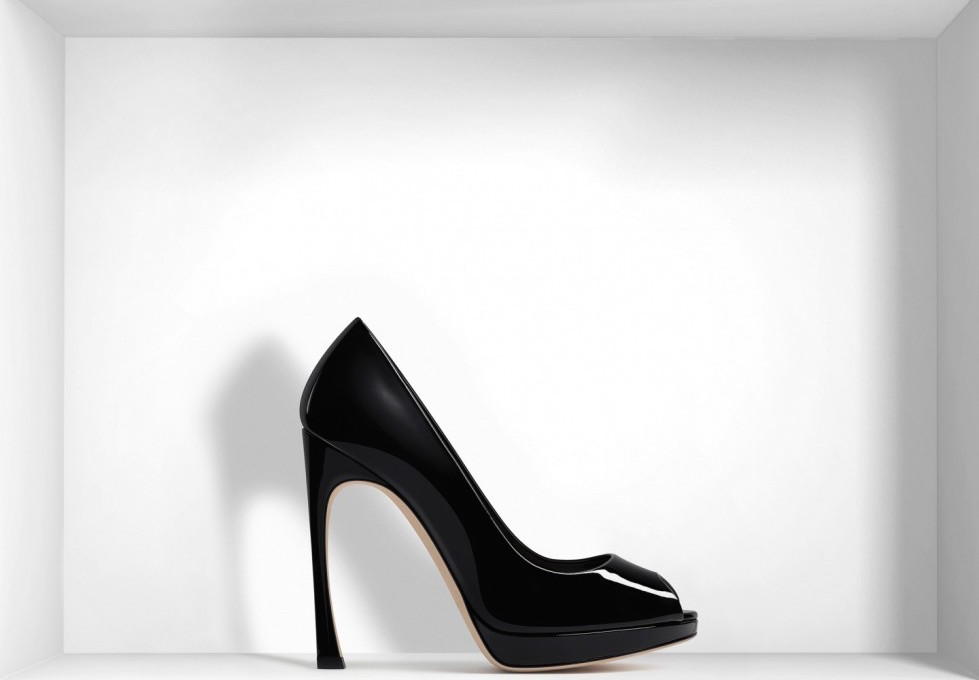 pumps-open-toe-nere-in-pelle-di-agnello-dior scarpe magazine