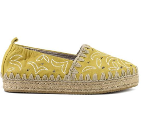 espadrilles perforated vintage leather&embroidery  € 149,00