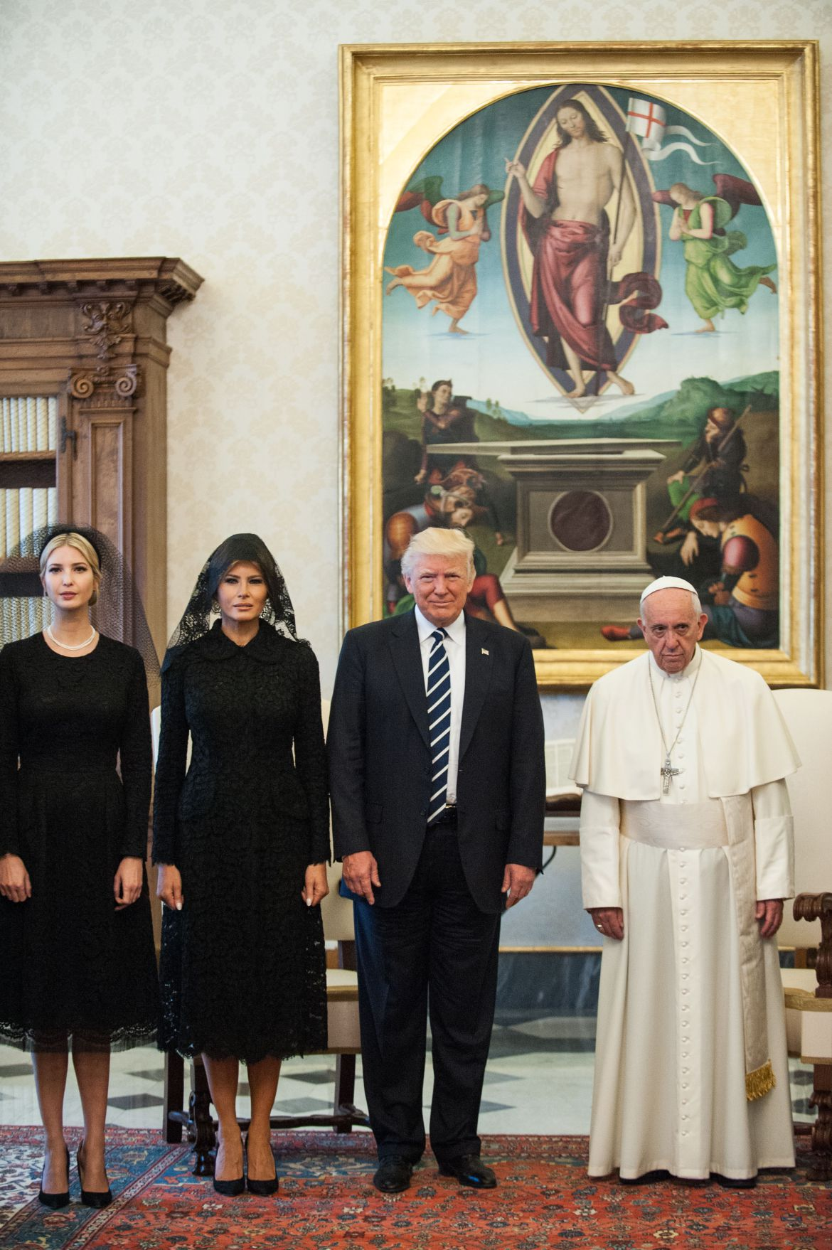 Donald Trump visit to the Vatican, Rome, Italy - 24 May 2017