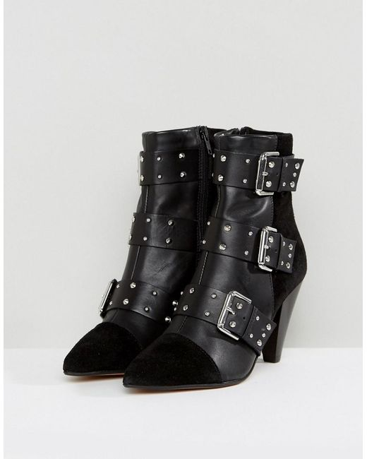 new-look-Black-Stud-Buckle-Ankle-Boot-With-Cone-Heel (1)