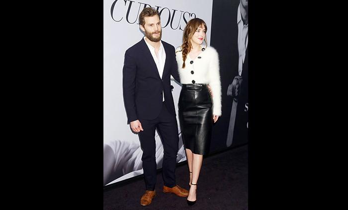 """Jamie Dornan e Dakota Johnson alla premiere di """"50 sfumature di grigio"""""""