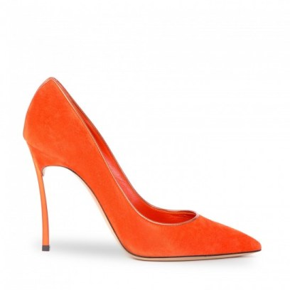 Pumps orange, by Casadei