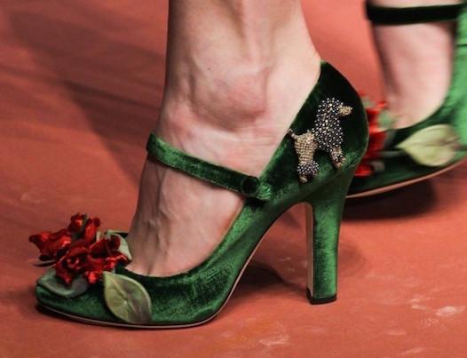 mary-jane-in-verde dolce e gabbana scarpe magazine