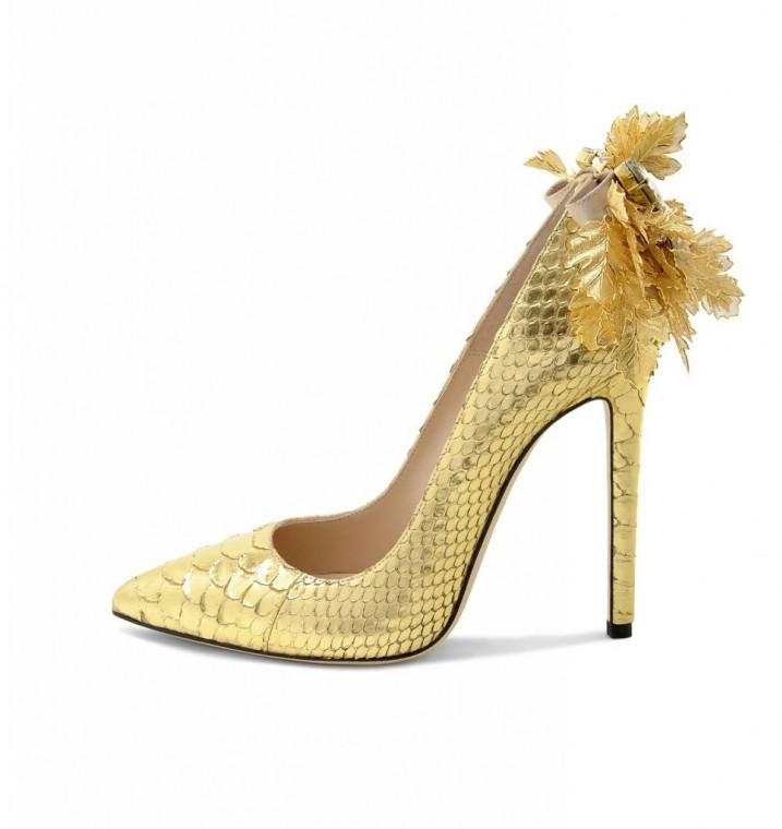 pumps-oro scarpe magazine scarpemagazine