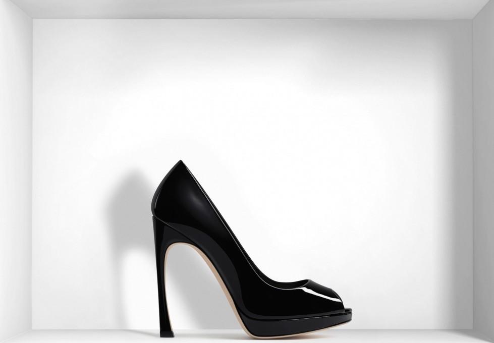 pumps-open-toe-nere-in-pelle-di-agnello-dior scarpe magazine