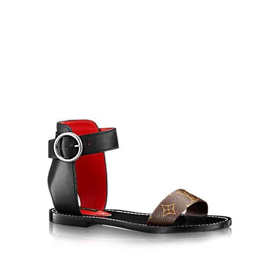 sandalo-flat-nero-louis-vuitton scarpe magazine