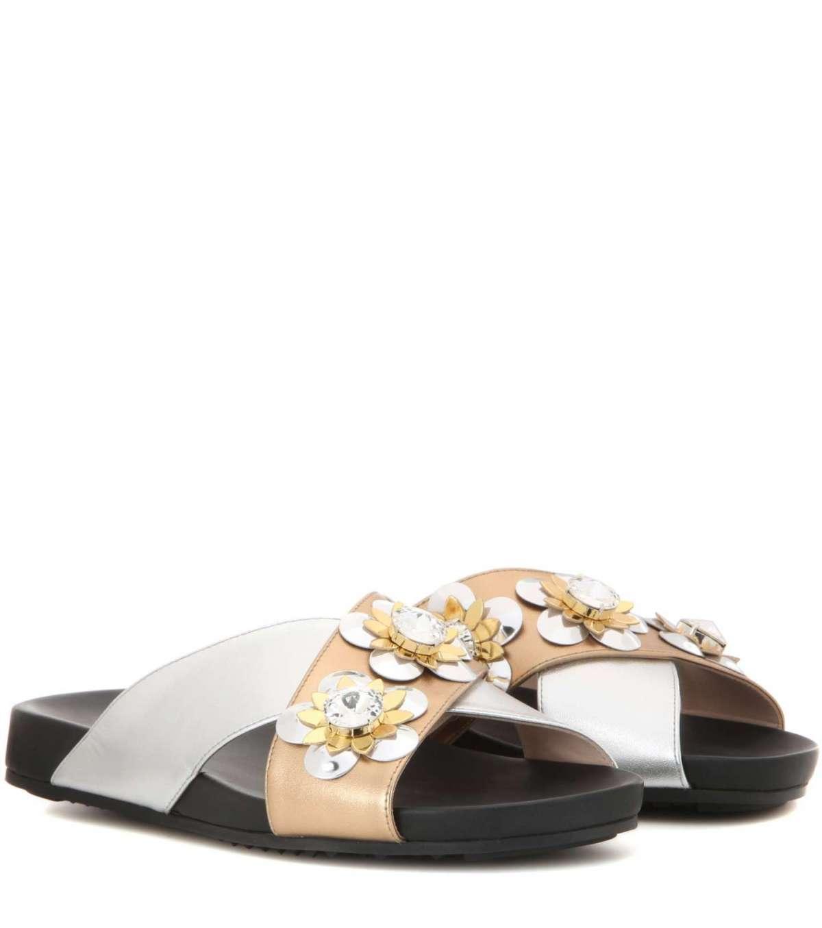 fendi sandali con applicazioni