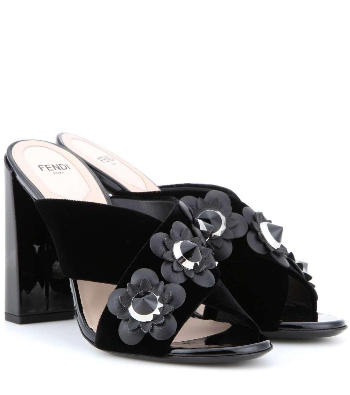 fendi sandali velluto
