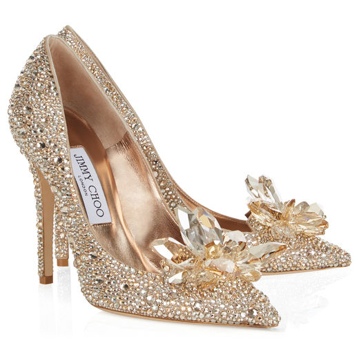 Cinderella heels gold