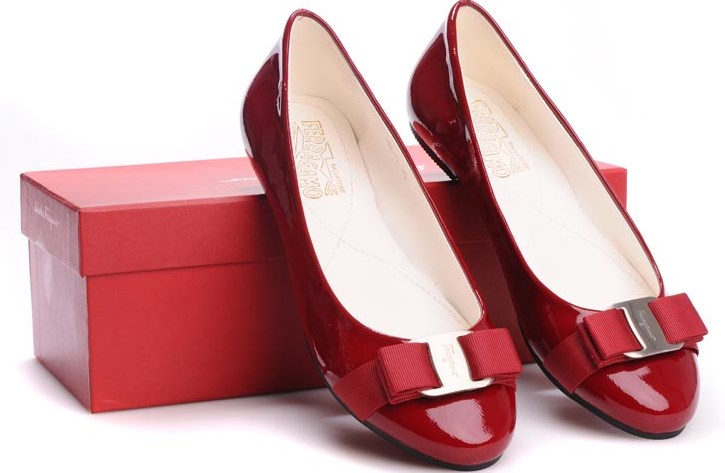 Salvatore-Ferragamo-Red-Flat