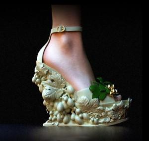 Scarpa scultura stampata in 3d