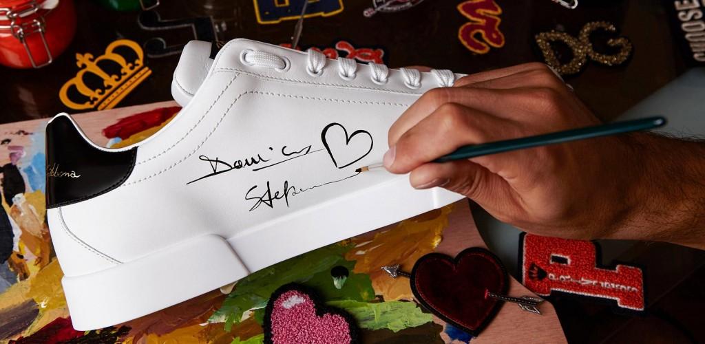 Sneaker Limited Edition Dolce&Gabbana firma Domenico e Stefano