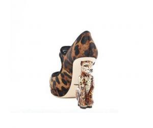 Scarpa scultura D&G ghepardo