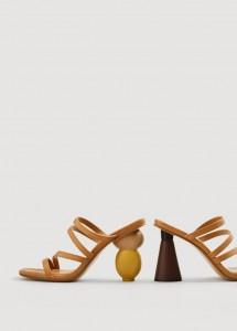 Sandali con tacco scultura di jacquemus
