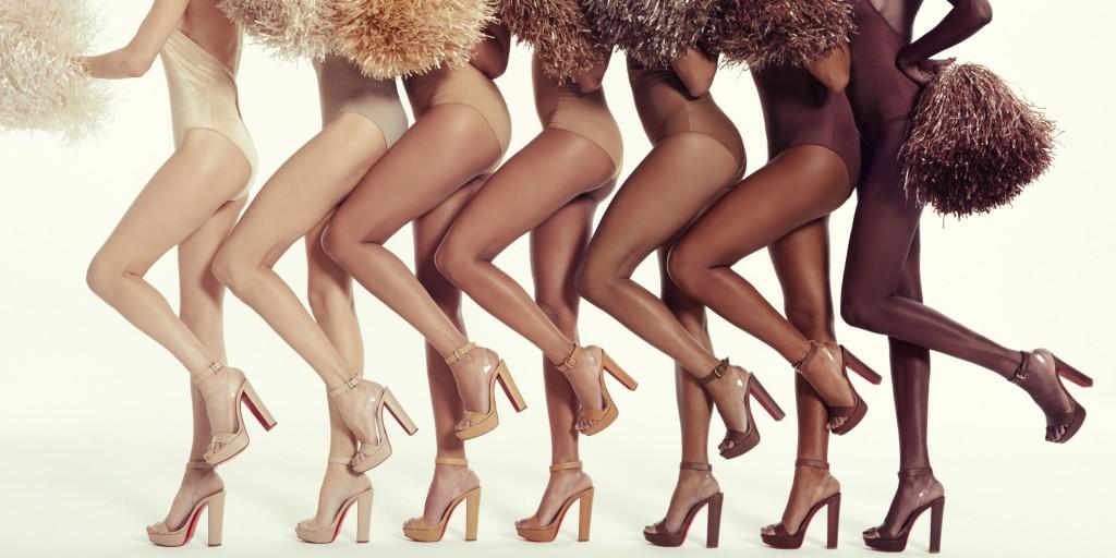 Scarpe nude tacco