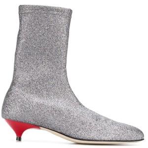 Stivali a calza in tessuto iridescente 299€