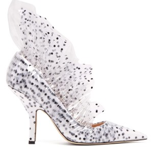 Pumps a pois avvolte nel tulle 985€