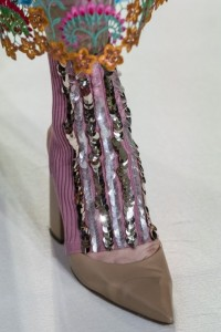 Accessorio scarpa con paillettes DelPozo