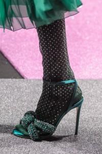 Sandalo verde bottiglia M. de Vincenzo