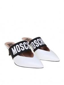 moschino white mules