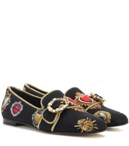 Pantofole Dolce & Gabbana, fibbia gioiello, prezzo 695€