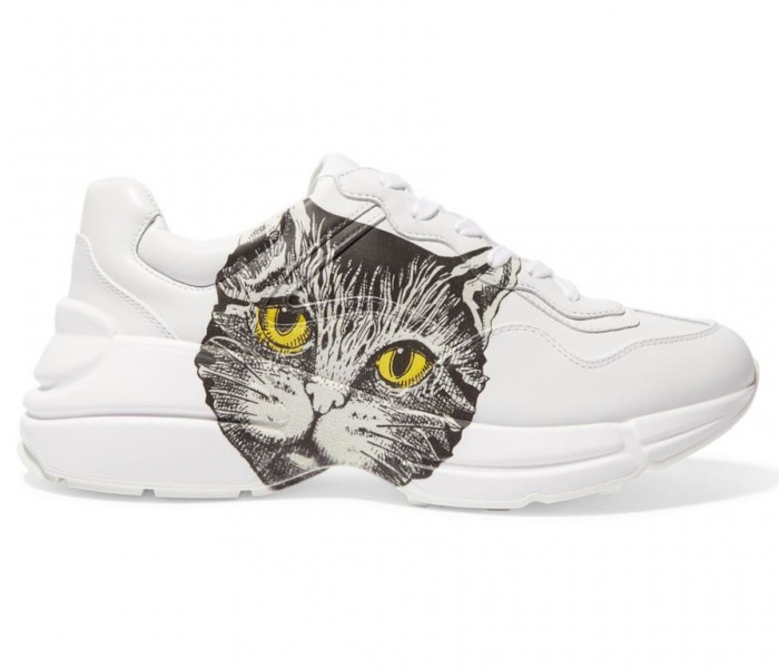Le ultime uscite di Gucci: le sneakers Rhyton pensate per gli amanti dei gatti