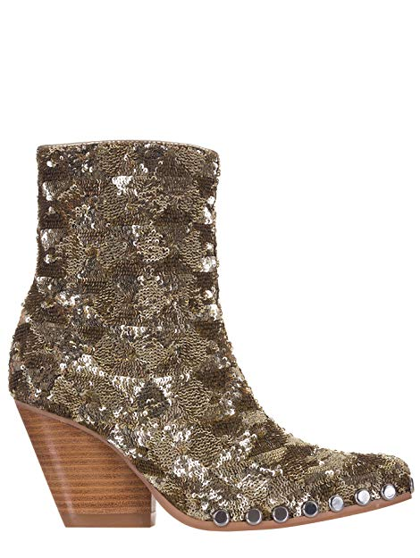Jeffrey Campbell Stivale TEXANO Basso Paillette Light Gold