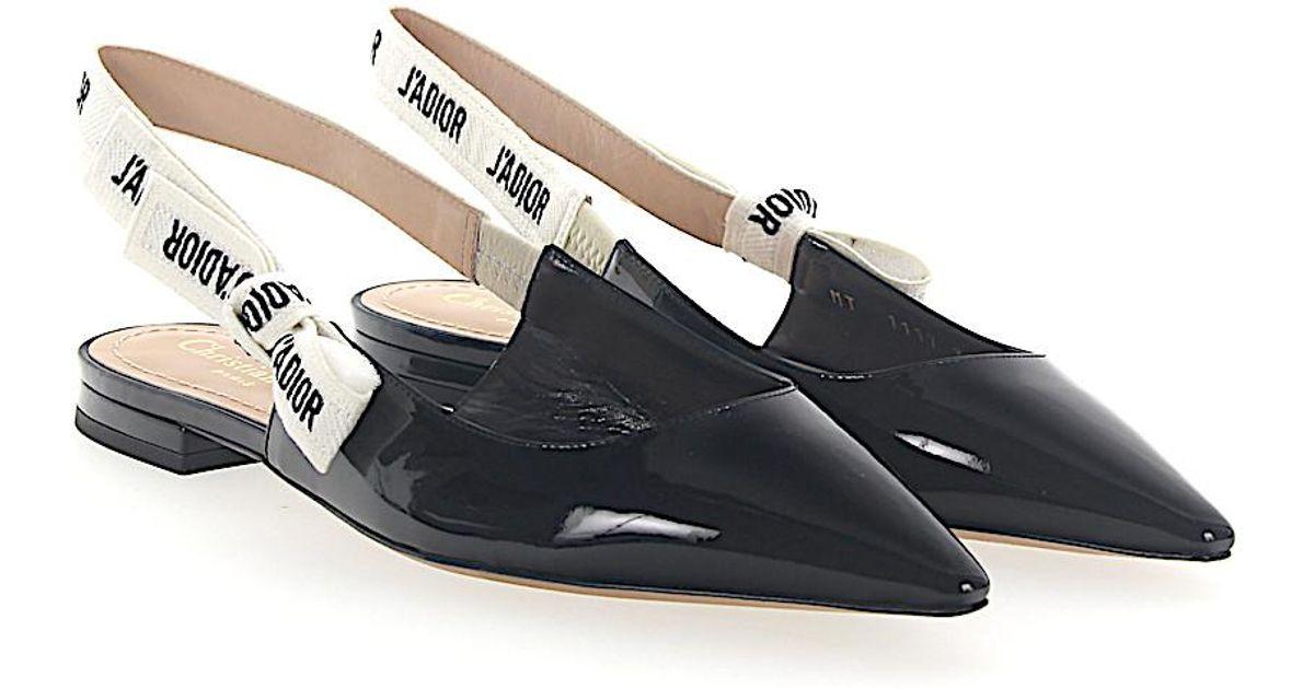dior-black-Slingback-ballerinas-Ja-Patent-Leather-Black